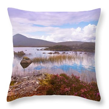 Colorful World Of Rannoch Moor. Scotland Throw Pillow by Jenny Rainbow