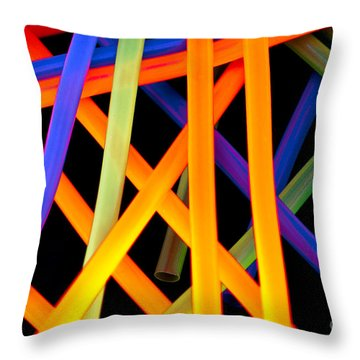 Coloring Between The Lines Throw Pillow by Charles Dobbs