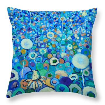 Colors Field In My Dream Throw Pillow by Ana Maria Edulescu