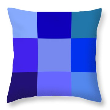 Colors Of Blue Throw Pillow by Karon Melillo DeVega