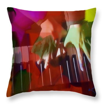 Colors Of Music Throw Pillow by Kume Bryant