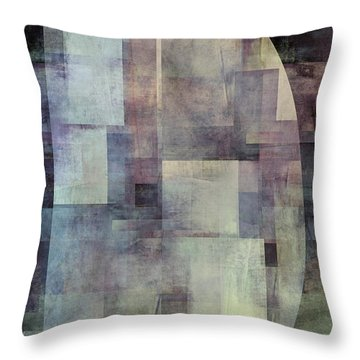 Colors Of Twilight Abstract Art Throw Pillow by Ann Powell