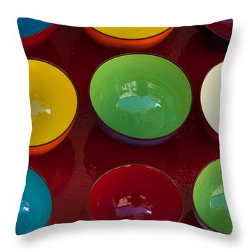 Colors Tray Throw Pillow by Dany Lison