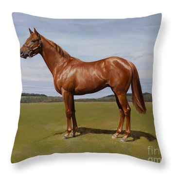 Colt Throw Pillow by Emma Kennaway