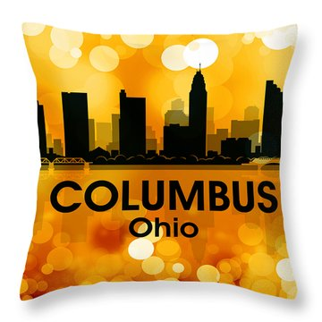 Columbus Oh 3 Throw Pillow by Angelina Vick