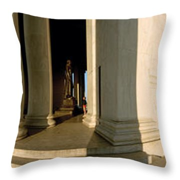 Columns Of A Memorial, Jefferson Throw Pillow by Panoramic Images