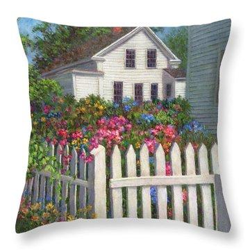 Come Into The Garden Throw Pillow by Susan Savad