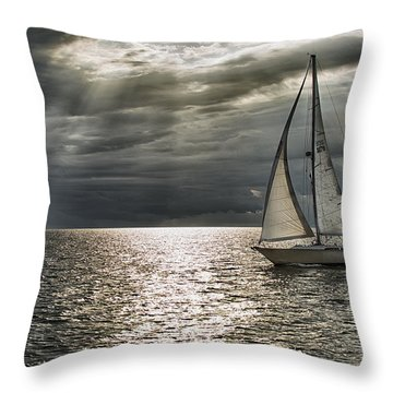 Come Sail Away Throw Pillow by Michael White