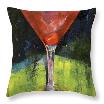 Comfortable Cherry Martini Throw Pillow by Michael Creese