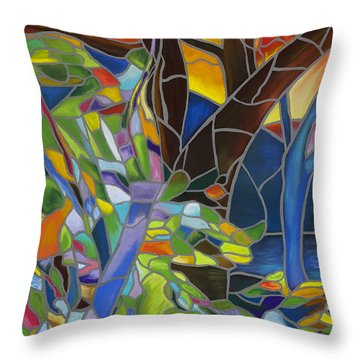 Comforting Throw Pillow by Dana Strotheide