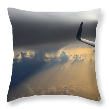 Coming Thru The Storm Throw Pillow by Bob Hislop