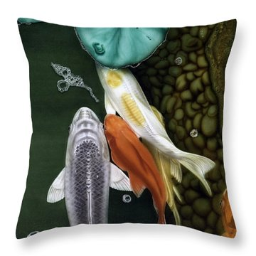 Coming Up Short Throw Pillow by Dan Menta