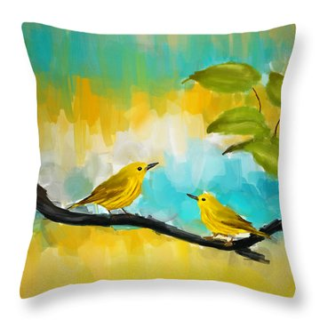 Companionship Throw Pillow by Lourry Legarde
