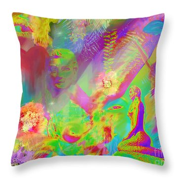 Complete Lovely Mayhem Throw Pillow by Michelle Wiarda