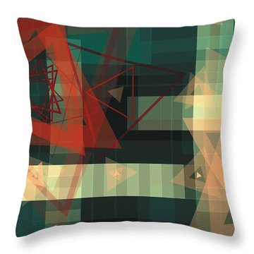 Composition 36 Throw Pillow by Terry Reynoldson