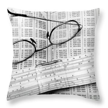 Computations Throw Pillow by Pierre Berger
