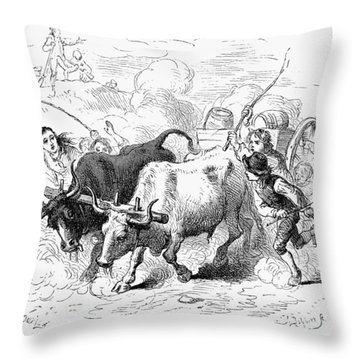 Concord: Evacuation, 1775 Throw Pillow by Granger