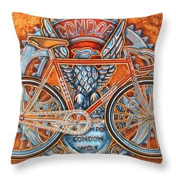 Condor Fixed Throw Pillow by Mark Howard Jones