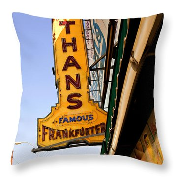 Coney Island Memories 1 Throw Pillow by Madeline Ellis