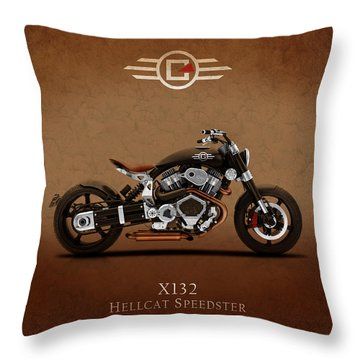 Confederate Hellcat Throw Pillow by Mark Rogan