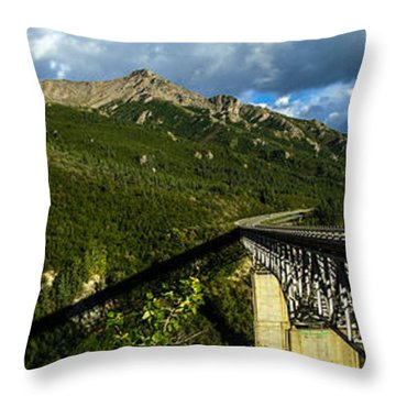 Connecting Life Throw Pillow by Chad Dutson
