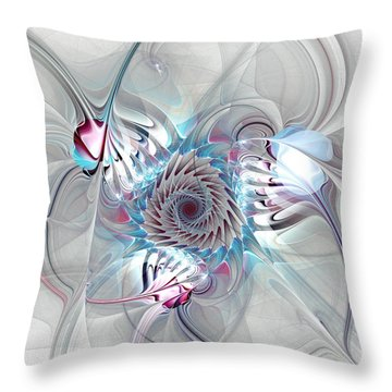 Contact Throw Pillow by Anastasiya Malakhova