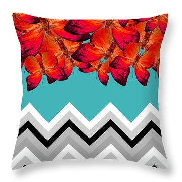 Contemporary Design Throw Pillow by Mark Ashkenazi