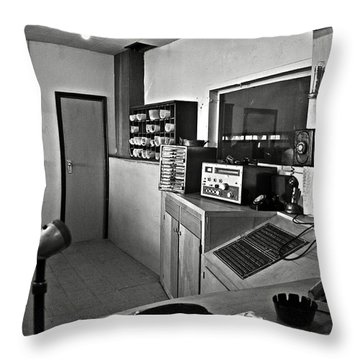 Control Room In Alcatraz Prison Throw Pillow by RicardMN Photography
