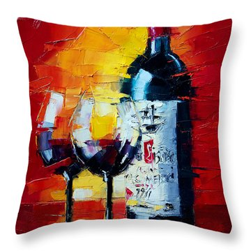 Conviviality Throw Pillow by Mona Edulesco