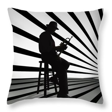 Cool Jazz 2 Throw Pillow by Bedros Awak