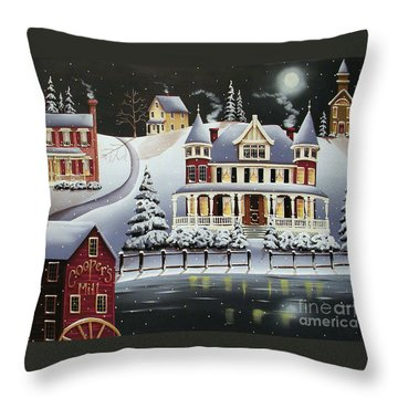 Coopersville Throw Pillow by Catherine Holman
