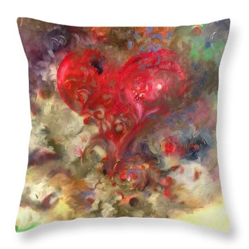 Corazon Throw Pillow by Julio Lopez