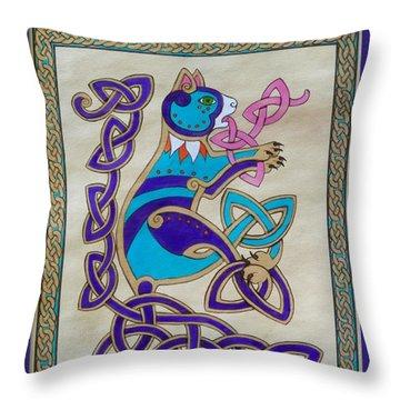 Corky's Journey Throw Pillow by Beth Clark-McDonal