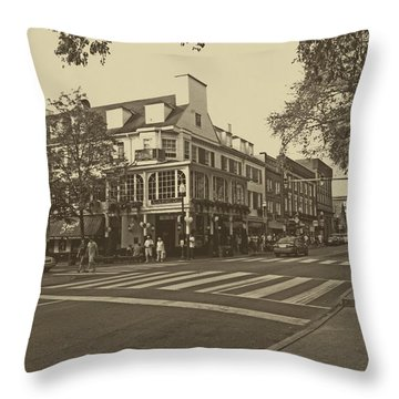 Corner Room Throw Pillow by Tom Gari Gallery-Three-Photography