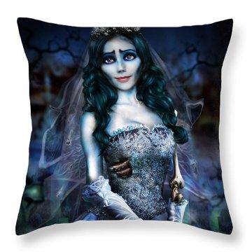 Corpse Bride Throw Pillow by Alessandro Della Pietra