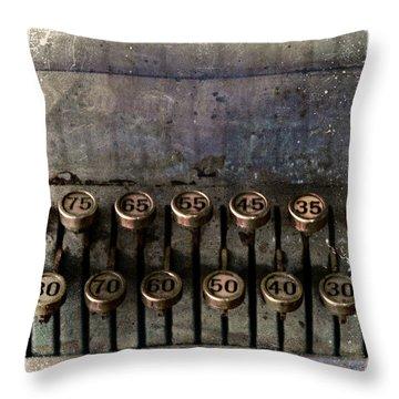 Correct Change Throw Pillow by Carol Leigh