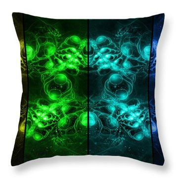 Cosmic Alien Eyes Pride Throw Pillow by Shawn Dall