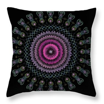 Cosmic Hug Throw Pillow by Keiko Katsuta