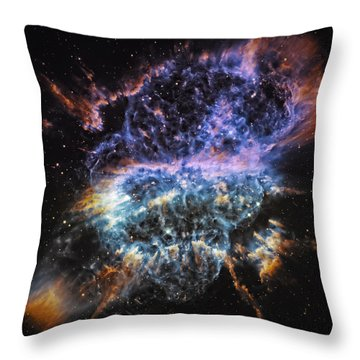 Cosmic Infinity 2 Throw Pillow by The  Vault - Jennifer Rondinelli Reilly