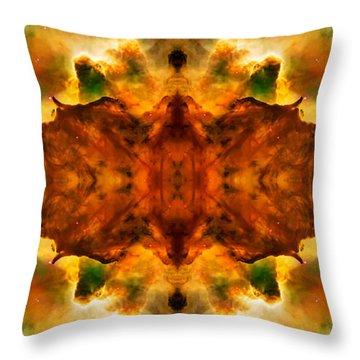 Cosmic Kaleidoscope 2  Throw Pillow by Jennifer Rondinelli Reilly - Fine Art Photography
