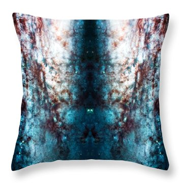 Cosmic Winter Throw Pillow by The  Vault - Jennifer Rondinelli Reilly