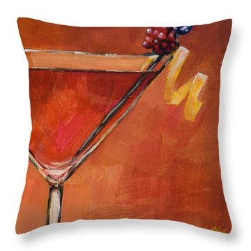 Cosmopolitan Throw Pillow by Sue  Darius