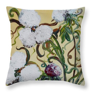 Cotton Squared Throw Pillow by Eloise Schneider