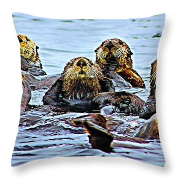 Couch Critters Throw Pillow by Kristin Elmquist