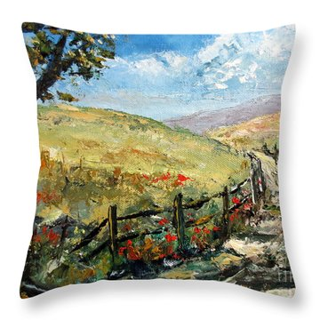 Country Road Throw Pillow by Lee Piper