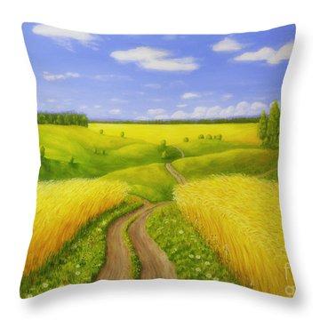 Country Road Throw Pillow by Veikko Suikkanen