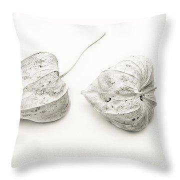 Couple Physalis Throw Pillow by Sviatlana Kandybovich