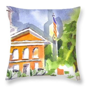 Courthouse Abstractions II Throw Pillow by Kip DeVore