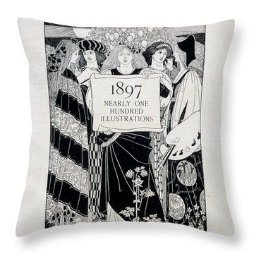 Cover For Art At The Paris Salons Throw Pillow by English School
