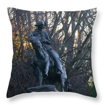Cowboy 1908 By Frederic Remington Throw Pillow by Bill Cannon